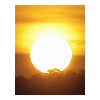 el kground añade la puesta del sol CONOCIDA de la Plantilla De Membrete