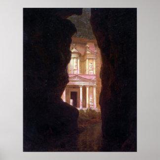 EL Khasne, Petra por la iglesia de Federico Edwin Poster