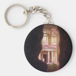 EL Khasne, Petra por la iglesia de Frederick Edwin Llavero Redondo Tipo Pin