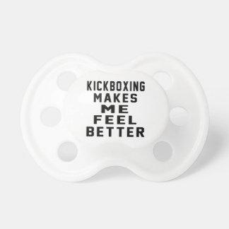 el kickboxing hace que siente mejor chupete de bebe