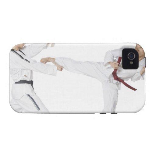 El kickboxing practicante del mediados de hombre carcasa para iPhone 4/4S