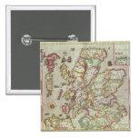 El Kingdome de Escocia, grabado por Jodocus Pin Cuadrada 5 Cm