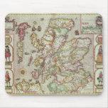 El Kingdome de Escocia, grabado por Jodocus Tapete De Ratón