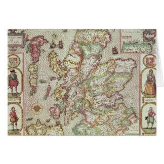 El Kingdome de Escocia, grabado por Jodocus Tarjeta De Felicitación