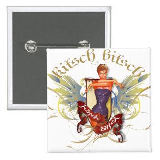 El kitsch Bitsch: Baño del Pin-Para arriba del tat Pin Cuadrado