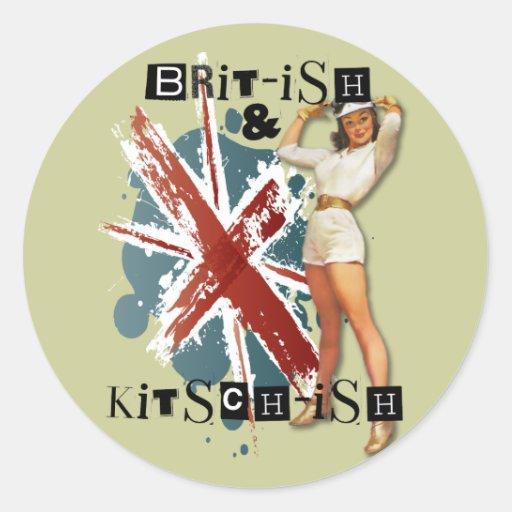 El kitsch Bitsch: Británicos y Pin-Para arriba del Etiquetas Redondas