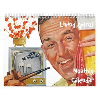 El kitsch Bitsch: Calendario mensual retro vivo