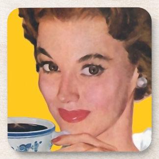 El kitsch Bitsch: Gráfico del café del vintage Posavasos