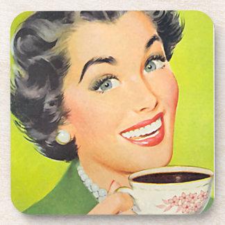 El kitsch Bitsch: Gráfico del café del vintage Posavasos De Bebida