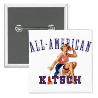 El kitsch Bitsch: Kitsch Todo-Americano Pin Cuadrado