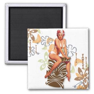 El kitsch Bitsch La diosa de Tiki Imán Para Frigorifico