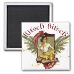 El kitsch Bitsch: Pin-Para arriba retro del tatuaj Iman De Nevera