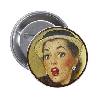 El kitsch BItsch: Retratos Pin-Para arriba Pin Redondo De 2 Pulgadas