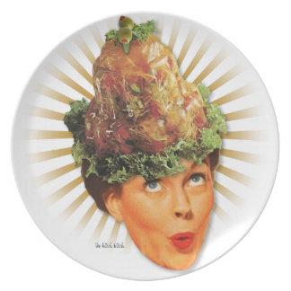 El kitsch Bitsch: Señoras Disembodied del kitsch Platos De Comidas