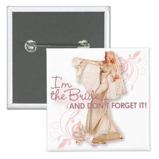 El kitsch Bitsch: ¡Soy la novia! Pin Cuadrado