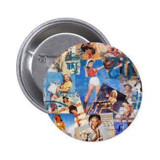 El kitsch Bitsch: Vaquera destruida Pin-UPS No.1 Pin Redondo De 2 Pulgadas