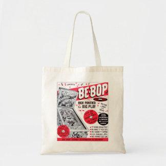 El kitsch retro 60s del vintage Ser-bop anuncio de Bolsa