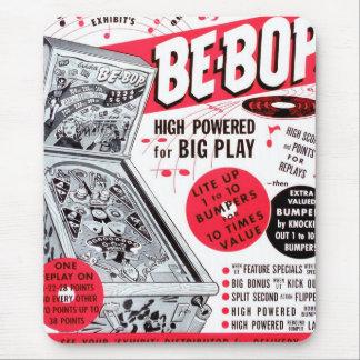 El kitsch retro 60s del vintage Ser-bop anuncio de Mousepads