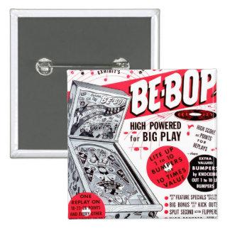 El kitsch retro 60s del vintage Ser-bop anuncio de Pin