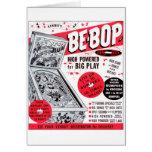 El kitsch retro 60s del vintage Ser-bop anuncio de Tarjeton