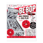 El kitsch retro 60s del vintage Ser-bop anuncio de Postal