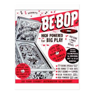 El kitsch retro 60s del vintage Ser-bop anuncio de Postales