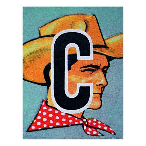 El kitsch retro C del vintage está para el bloque  Postales