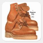 El kitsch retro del vintage calza el neopreno de pegatinas cuadradas personalizadas
