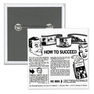 El kitsch retro del vintage cómo tener éxito detrá pin cuadrada 5 cm