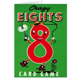El kitsch retro del vintage embroma el juego de tarjeta de felicitación