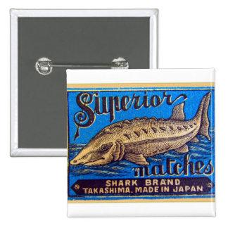 El kitsch retro del vintage hace juego marca super pin cuadrado