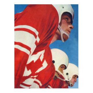 El kitsch retro del vintage se divierte a futbolis tarjeta postal