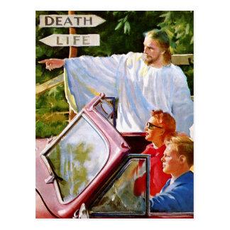 El kitsch retro Jesús del vintage señala la manera Tarjeta Postal