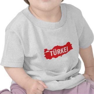 El kontur de Tuerkei zeichen Camiseta
