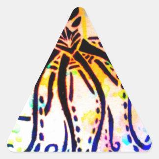 El Kraken Pegatina Triangular