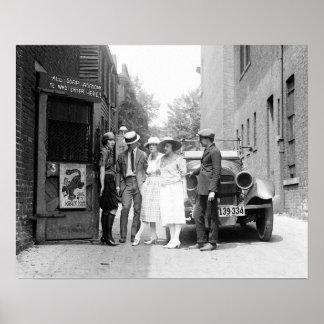 El Krazy Kat Speakeasy, 1921. Foto del vintage Póster