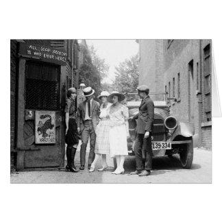El Krazy Kat Speakeasy, 1921 Tarjeton