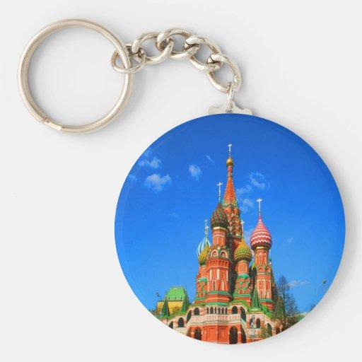 el Kremlin ocho cúpulas combinó capillas Llavero