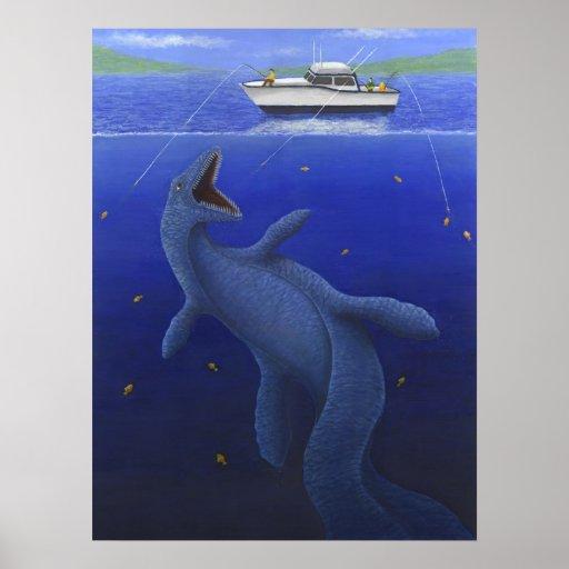 El Kronosaurus interrumpe un viaje de pesca Póster