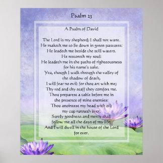 El KRW el señor es mi impresión del salmo 23 del p Poster