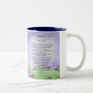El KRW el señor es mi taza de café del salmo 23 de