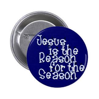 El KRW Jesús es la razón de la estación Pin Redondo De 2 Pulgadas