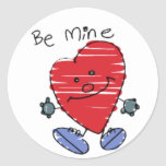 El KRW lindo sea tarjeta del día de San Valentín Etiqueta Redonda