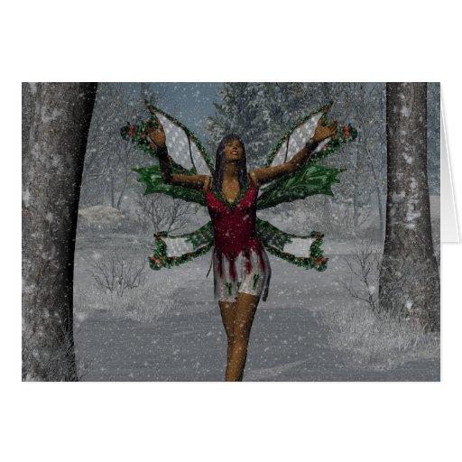 El KRW lo dejó nevar tarjeta del Faery del navidad