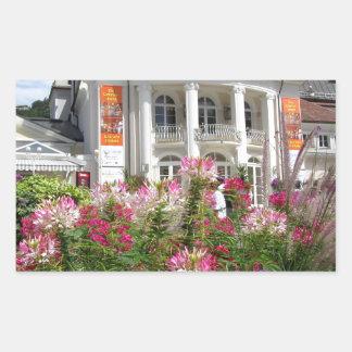 El Kurhaus de Meran, el Tyrol del sur Rectangular Pegatina