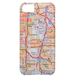 El LA Beverly Hills de California del mapa vara la Funda Para iPhone 5C