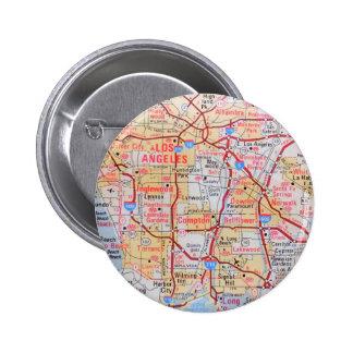 El LA Beverly Hills de California del mapa vara la Pin Redondo 5 Cm