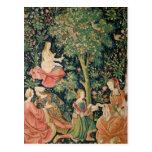 El La compite Seigneuriale: Escena Galante, c.1500 Postal