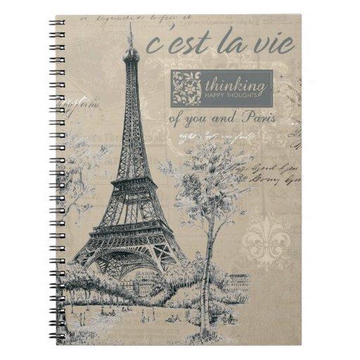 El la de C'est compite:  Diseño de torre Eiffel Libro De Apuntes