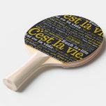 El La de C'est compite la paleta de encargo del Pala De Ping Pong